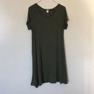 Olive Green Old Navy Tshirt Dress